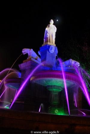Fontaine Belle Agathoise de nuit