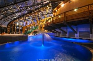 Centre aquatique de nuit