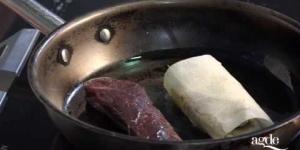 Galette croustillante de râble de lièvre au chocolat Restaurant La Table de Stéphane