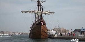 À bord de la Nao santa maria de Christophe Colomb (réplique)