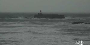 Mer agitée au Cap d'Agde et au Grau d'Agde