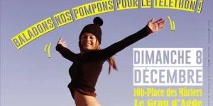 Baladons nos Pompons pour le Téléthon Agde 2019
