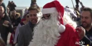L'arrivée surprise du Père Noël au Grau d'Agde