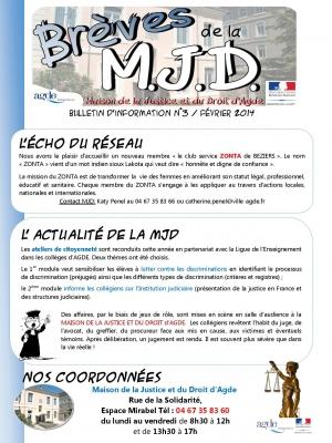 Brèves de la MJD n°4 Février 2014