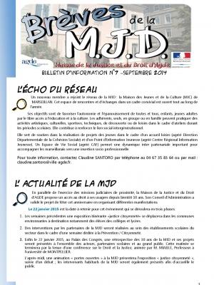 Brèves de la MJD n°7 septembre 2014