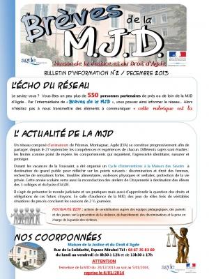 Brèves de la MJD n°2 Décembre 2013