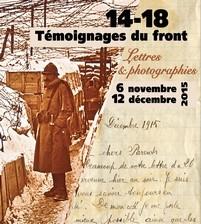 """Flyer exposition """"14-18 Témoignages du Front"""""""