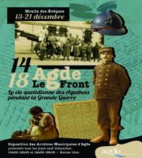 """Flyer Exposition """"14-18 Agde-Le Front. La vie quotidienne des Agathois pendant la Grande Guerre"""""""