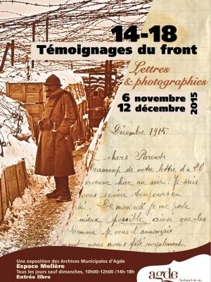 """Fiche de présentation - Exposition """"14-18 Témoignages du Front"""""""