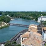 Perspective générale des quais de l'Hérault