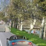 Le passage à niveau route de Bessan