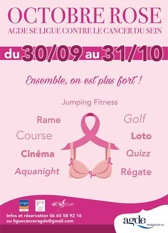 Octobre Rose : Agde se ligue contre le cancer du sein