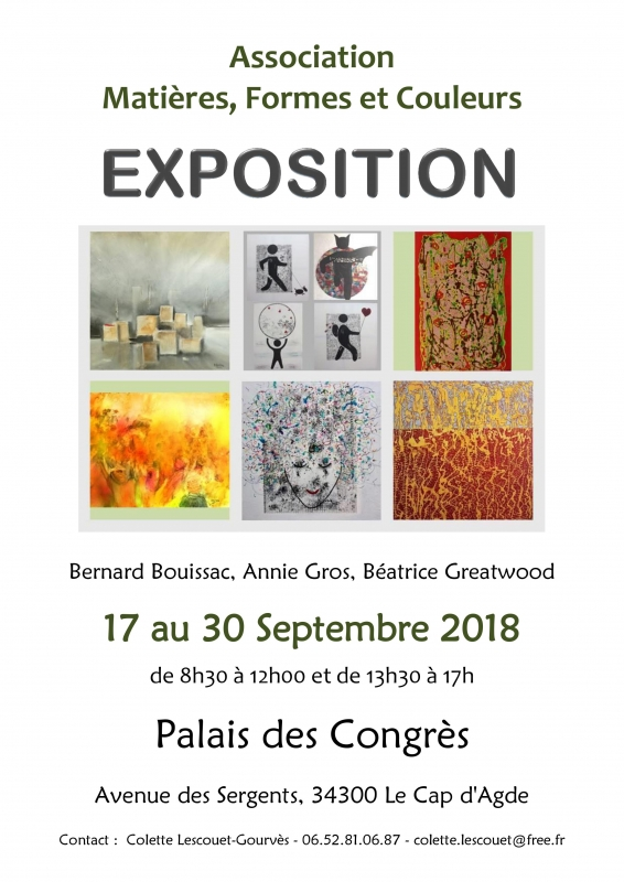 Exposition Peintures Association Matières Formes Et Couleurs